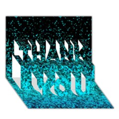Glitter Dust G162 THANK YOU 3D Greeting Card (7x5)
