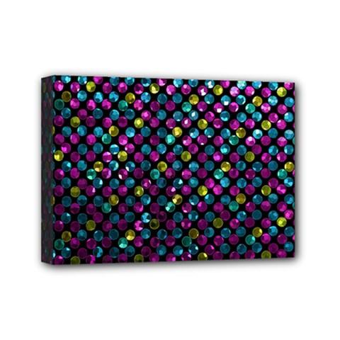 Polka Dot Sparkley Jewels 2 Mini Canvas 7  x 5