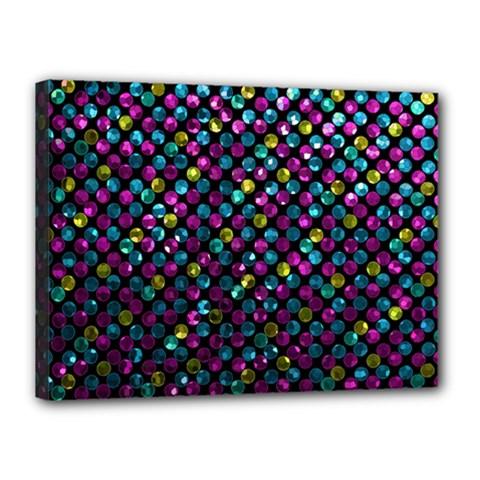 Polka Dot Sparkley Jewels 2 Canvas 16  x 12