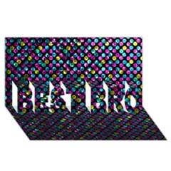 Polka Dot Sparkley Jewels 2 Best Bro 3d Greeting Card (8x4)