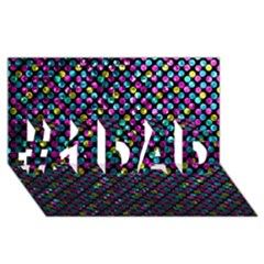 Polka Dot Sparkley Jewels 2 #1 DAD 3D Greeting Card (8x4)
