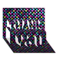 Polka Dot Sparkley Jewels 2 Thank You 3d Greeting Card (7x5)