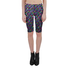 Polka Dot Sparkley Jewels 2 Cropped Leggings