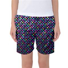 Polka Dot Sparkley Jewels 2 Women s Basketball Shorts