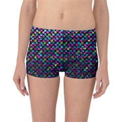 Polka Dot Sparkley Jewels 2 Reversible Boyleg Bikini Bottoms