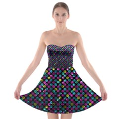 Polka Dot Sparkley Jewels 2 Strapless Bra Top Dress