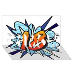 Comic Book 18 Blue #1 MOM 3D Greeting Cards (8x4)