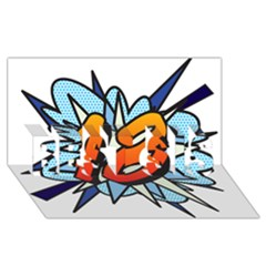 Comic Book 18 Blue BEST SIS 3D Greeting Card (8x4)
