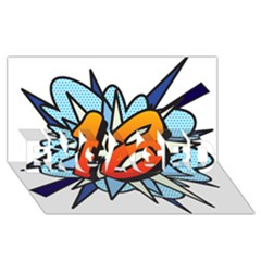Comic Book 18 Blue ENGAGED 3D Greeting Card (8x4)
