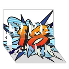 Comic Book 18 Blue TAKE CARE 3D Greeting Card (7x5)