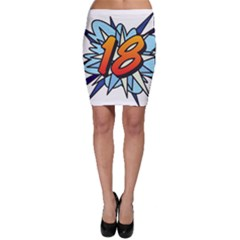 Comic Book 18 Blue Bodycon Skirts