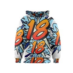 Comic Book 18 Blue Kid s Pullover Hoodies