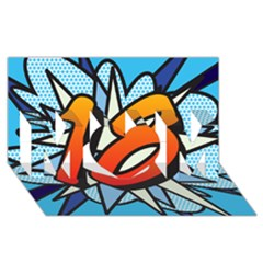 Comic Book 18 Blue Mom 3d Greeting Card (8x4)
