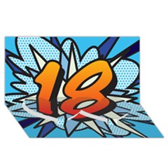 Comic Book 18 Blue Twin Heart Bottom 3D Greeting Card (8x4)