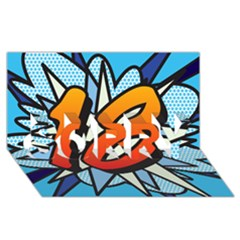 Comic Book 18 Blue Sorry 3d Greeting Card (8x4)