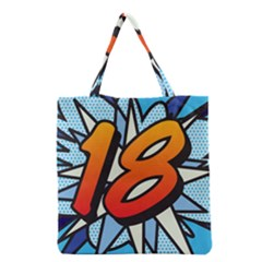 Comic Book 18 Blue Grocery Tote Bags