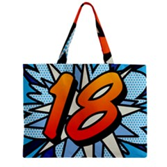 Comic Book 18 Blue Zipper Tiny Tote Bags
