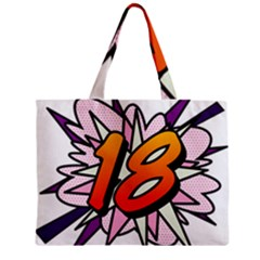 Comic Book 18 Pink Zipper Tiny Tote Bags