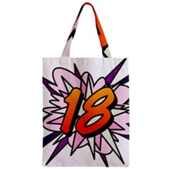 Comic Book 18 Pink Zipper Classic Tote Bags