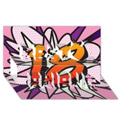 Comic Book 18 Pink Best Friends 3D Greeting Card (8x4)