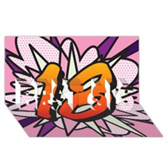 Comic Book 18 Pink Best Sis 3d Greeting Card (8x4)