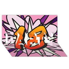 Comic Book 18 Pink Party 3d Greeting Card (8x4)