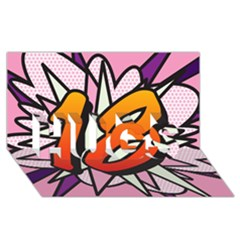 Comic Book 18 Pink Hugs 3d Greeting Card (8x4)