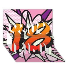 Comic Book 18 Pink You Did It 3d Greeting Card (7x5)