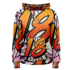 Comic Book 18 Pink Women s Pullover Hoodies