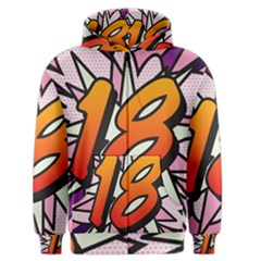 Comic Book 18 Pink Men s Zipper Hoodies