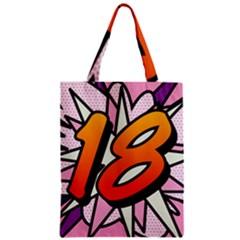 Comic Book 18 Pink Zipper Classic Tote Bags