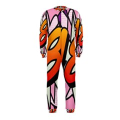 Comic Book 18 Pink OnePiece Jumpsuit (Kids)