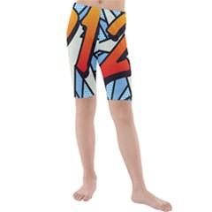 Comic Book 21 Blue Kid s swimwear