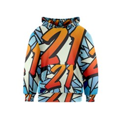 Comic Book 21 Blue Kid s Pullover Hoodies