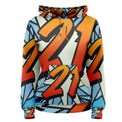Comic Book 21 Blue Women s Pullover Hoodies