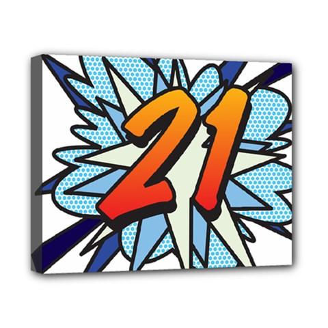 Comic Book 21 Blue Canvas 10  x 8