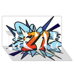 Comic Book 21 Blue Mom 3d Greeting Card (8x4)