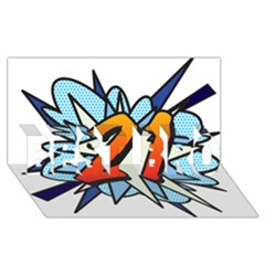 Comic Book 21 Blue Best Bro 3d Greeting Card (8x4)