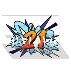 Comic Book 21 Blue Engaged 3d Greeting Card (8x4)