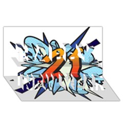 Comic Book 21 Blue Happy New Year 3d Greeting Card (8x4)