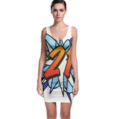 Comic Book 21 Blue Bodycon Dresses