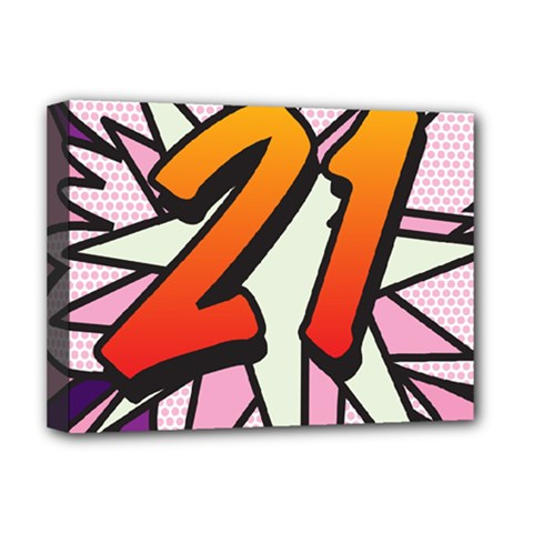 Comic Book 21 Pink Deluxe Canvas 16  x 12