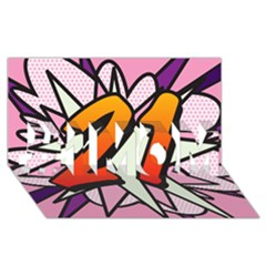 Comic Book 21 Pink #1 Mom 3d Greeting Cards (8x4)