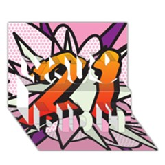 Comic Book 21 Pink You Did It 3d Greeting Card (7x5)