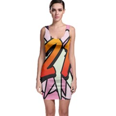 Comic Book 21 Pink Bodycon Dresses