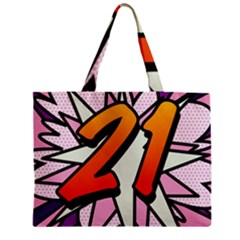 Comic Book 21 Pink Zipper Tiny Tote Bags