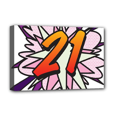 Comic Book 21 Pink  Deluxe Canvas 18  x 12