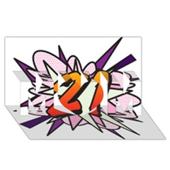 Comic Book 21 Pink  MOM 3D Greeting Card (8x4)