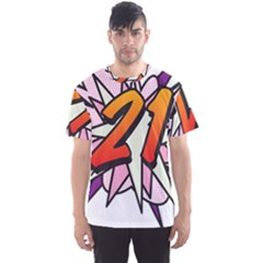 Comic Book 21 Pink  Men s Sport Mesh Tees