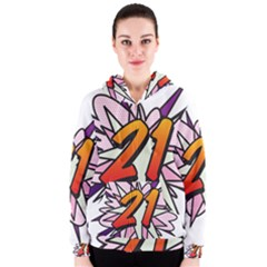 Comic Book 21 Pink  Women s Zipper Hoodies